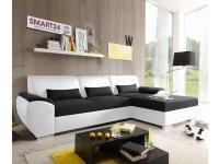 Угловой диван-кровать ANTARA SMART белый/черный