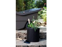 Lillepotiümbris CYLINDER PLANTER SMALL, anthracite