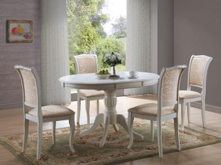 Pikendatav laud olivia ecru s gilauad lauad ja toolid for Patiner un meuble en gris taupe